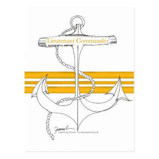 gold lieutenant commander, tony fernandes postcard