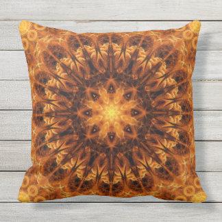Gold Light Gateway Mandala Cushion