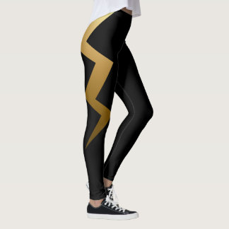Gold Lightning Bolt Leggings