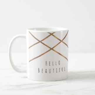 Gold Lines Modern Geometric Glam Beautiful Custom Coffee Mug
