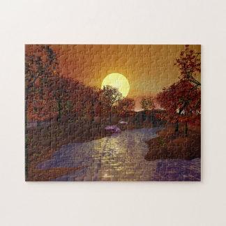 Gold Linger - Autumn Scene Puzzles
