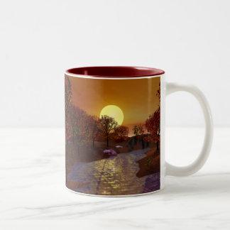 Gold Linger - Autumn Scene Two-Tone Mug