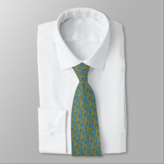 Gold Lion Blue Tie