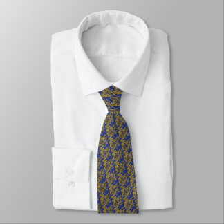 Gold Lion French Blue Tie