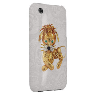 Gold Lion Jewel Photo Paisley Lace iPhone 3G Case iPhone 3 Case