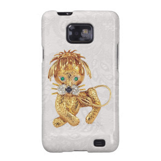 Gold Lion Jewel Photo Paisley Lace Samsung Galaxy Samsung Galaxy SII Cases