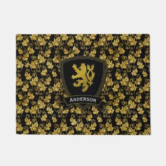 Gold Lion Rampant Foliage Your Color Doormat