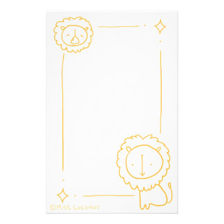 Gold Lions Stationery