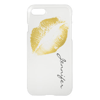 Gold Lips #2 iPhone 7 Case
