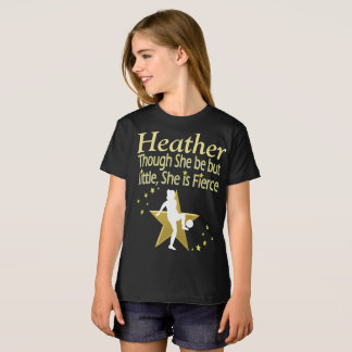 GOLD LITTLE BUT FIERCE PERSONALIZED T SHIRT