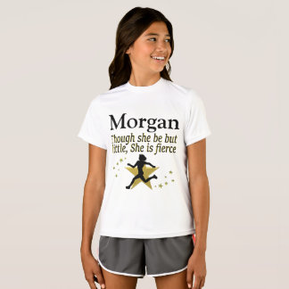 GOLD LITTLE BUT FIERCE PERSONALIZED TRACK T SHIRT