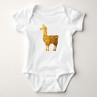 Gold Llama Baby Bodysuit