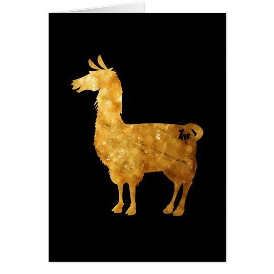 Gold Llama Greeting Card