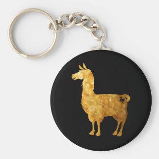 Gold Llama Keychain