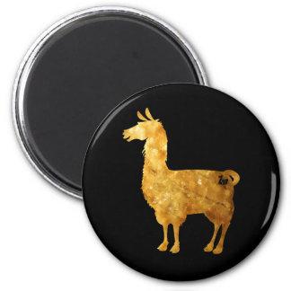 Gold Llama Magnet
