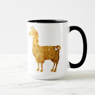 Gold Llama Mug