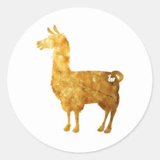 Gold Llama Stickers