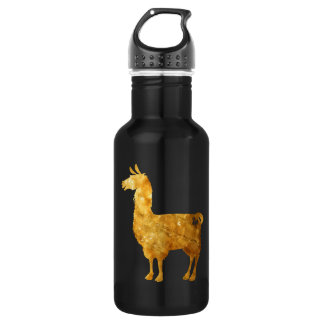 Gold Llama Water Bottle 532 Ml Water Bottle