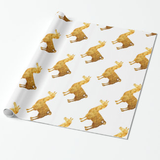 Gold Llama Wrapping Paper
