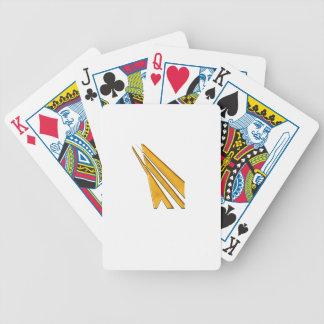 gold logo bicycle playing cards