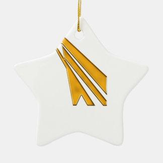 gold logo ceramic star decoration