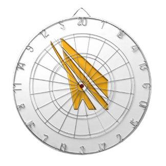 gold logo dartboard