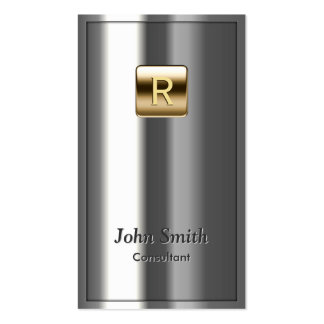 Gold Logo Metallic Consultant Business Card