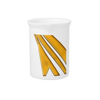 gold logo pitcher