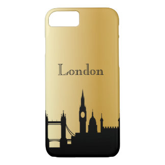 Gold London Silhouette Phone & Ipad Cases
