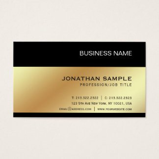 Gold Look Elegant Modern Premium Silk Luxe Business Card
