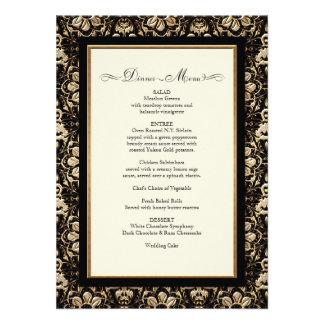 Gold Look, Lace Baroque Art Nouveau Deco 20s Style Personalized Invitations