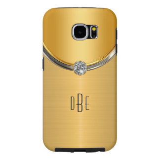 Gold Look Monogram Samsung Galaxy S6 Cases