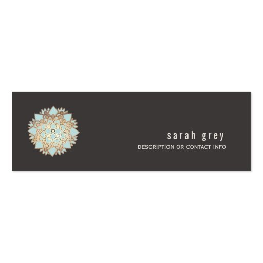 Gold Lotus Calling Card Business Card