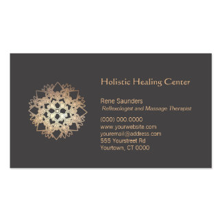 Gold Lotus Holistic Health and Healing Arts Pack Of Standard Business Cards