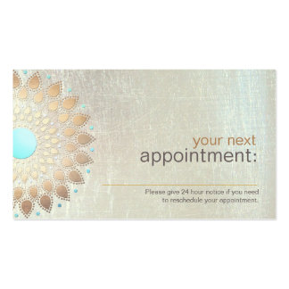 Gold Lotus Salon and Spa Appointment Card Pack Of Standard Business Cards