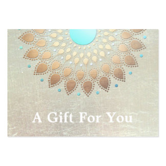 Gold Lotus Salon and Spa Gift Card Pack Of Chubby Business Cards