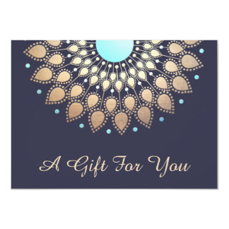 Gold Lotus Salon and Spa Gift Certificate 11 Cm X 16 Cm Invitation Card