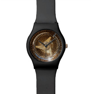 Gold Lowrider Wire Wheels Watch