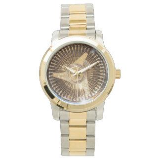 Gold Lowrider Wire Wheels Watch