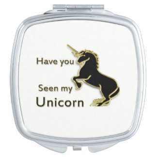 Gold magical fairytale unicorn mirror for makeup