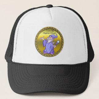 Gold Magical magician sorceress purple wizard Trucker Hat