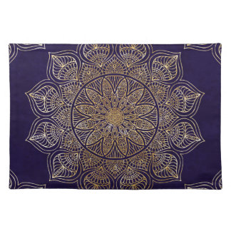 Gold mandala placemat