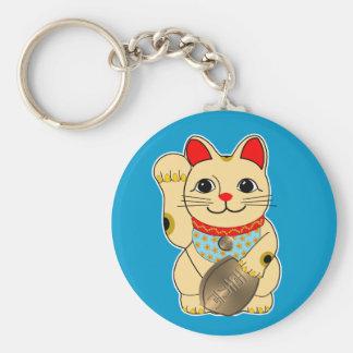 Gold Maneki Neko Key Ring