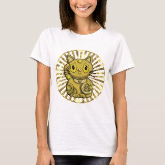 Gold Maneki Neko Lucky Beckoning Cat T-Shirt