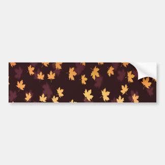 Gold Maple Leaf on dark red Bumper Sticker
