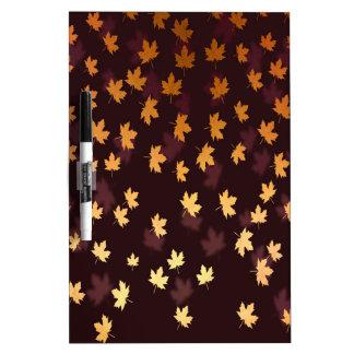 Gold Maple Leaf on dark red Dry Erase Board