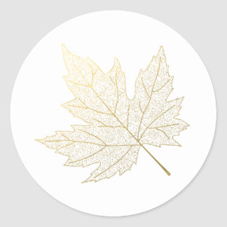 Gold Maple Leaf Sticker