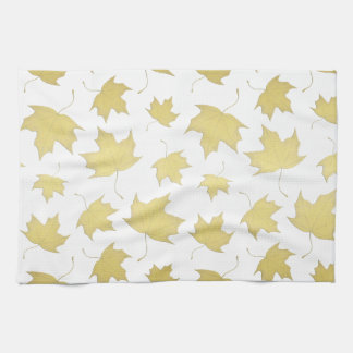 GOLD MAPLE LEAVES - Kitchen towel