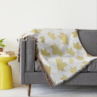 GOLD MAPLE LEAVES - Throw blanket