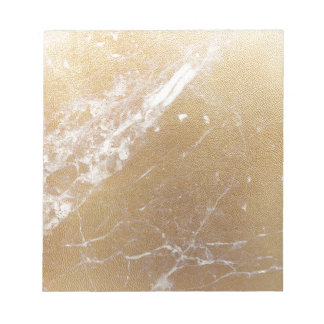 gold marble foil notepad
